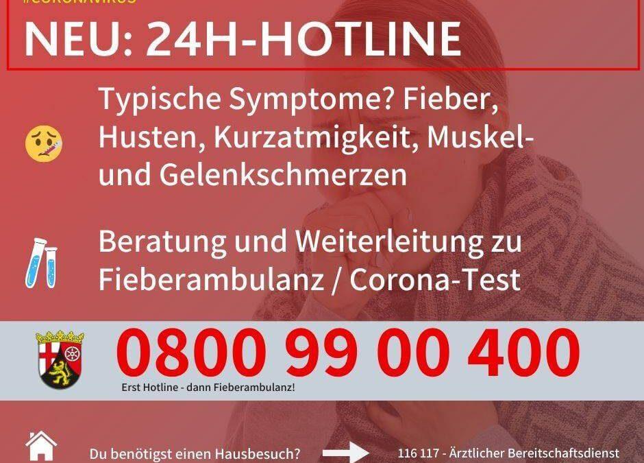 Neu: 24H-Corona-Hotline